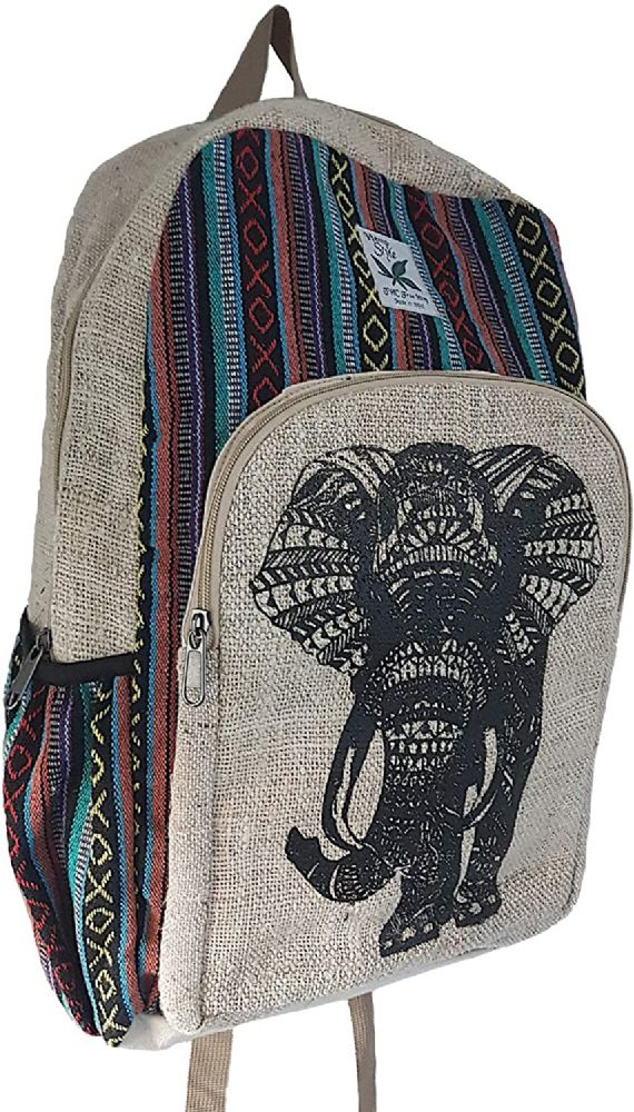Lucky  Elephant Hemp Backpack
